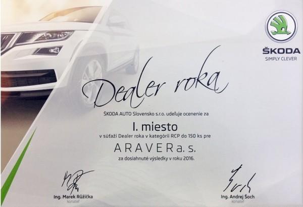 ARAVER Dealer roka 2016