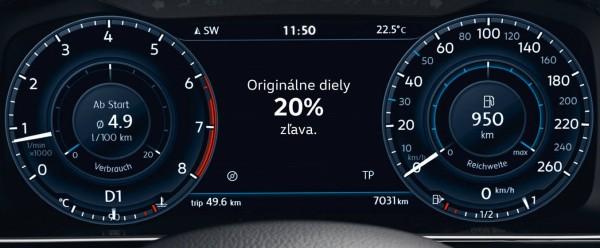 Šeková knižka Volkswagen úžitkové vozidlá.