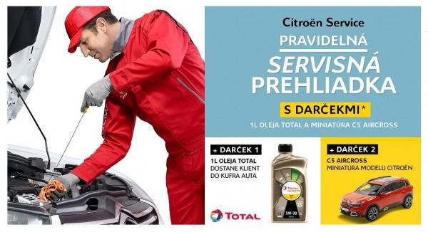 Citroën servisná prehliadka s darčekom