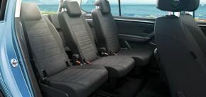 Volkswagen Touran interiér zadne sedačky