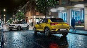 Volkswagen T-Roc trojštvrťový pohľad zozadu