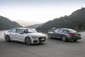 Audi A6 biela a šedá