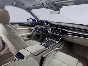 Audi A6 interiér- detail prístrojová doska + sedačky biela
