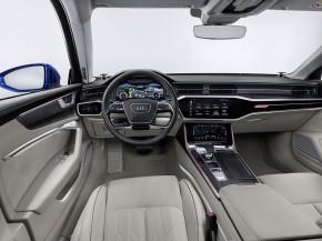 Audi A6 interiér- detail prístrojová doska + sedačky biela 2