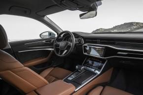 Audi A6 interiér- detail prístrojová doska + sedačky hnedá