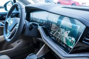 Volkswagen Touareg prístrojová  doska detail  display