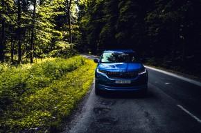 ŠKODA Kodiaq- pohľad spredu- modrá farba