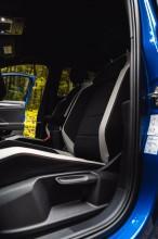 Volkswagen T-Roc interiér predné sedačky, modrá farba