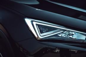 SEAT Tarraco detail svetlo- čierna farba