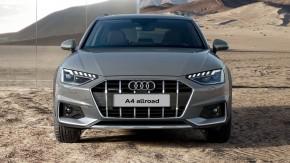 Audi A4 Allroad- pohľad spredu- sivá farba
