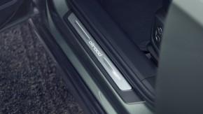 Audi A6 Allroad- nástupná lišta- zelená farba