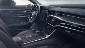 Audi A6 Allroad- interiér, detail prístrojová doska- zelená farba