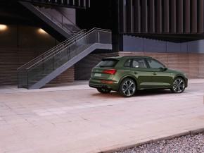 Audi Q5- trojštvrťový pohľad zozadu- zelená farba