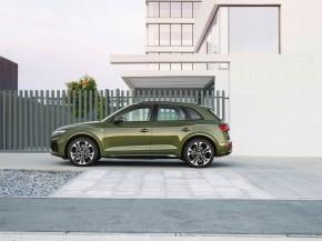 Audi Q5- pohľad zboku- zelená farba