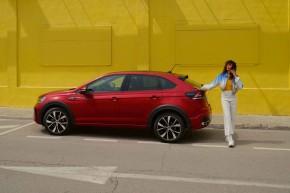 Novinka Volkswagen Taigo červená